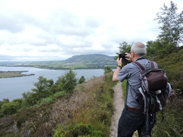 Mr RR capturing the views from the top of the viewpoint walk - stunning (the scenery that is!)