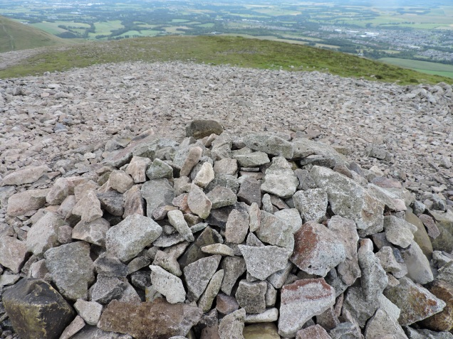 The Stone Cairn at the highest point on our walk