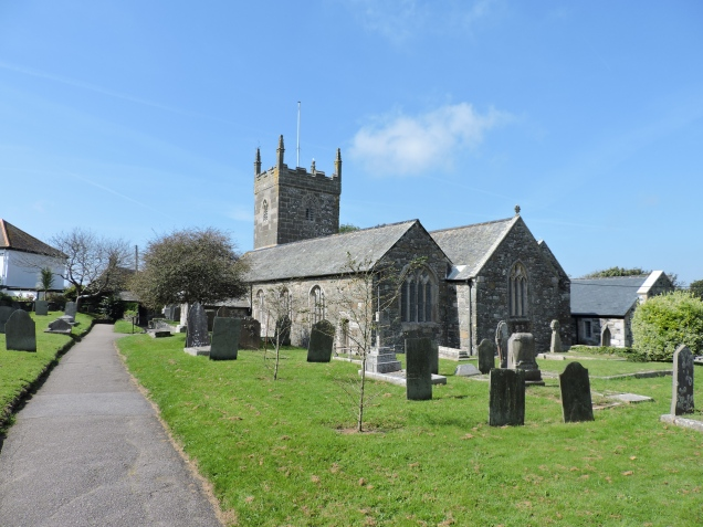 Mullion Church - well-known for its collection of medieval bench-ends